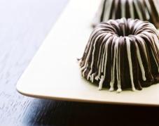 Mini Triple Chocolate Ribbon Cakes